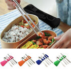 4 Pcs Portable Stainless Steel Knife Fork Spoon Chopsticks Cutlery Set Witty
