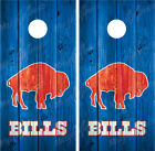 Buffalo Bills Throwback Vintage Distressed Wood Cornhole Board Decal Wrap Wraps on eBay