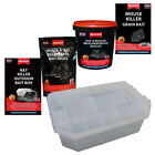 Rat Trap & Mouse Killer Outdoor Indoor Bait Station Food Mice Kill By Rentokill