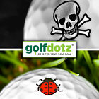 24x Golf Dotz Ball Signs Sticky Label Markers Lake Balls Print Stamps Dots Pack