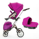 Baby Stroller 3 in 1 high-view Bassinet folding Pushchair Fashion Pram Carriage