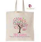 Personalised Thank You Teacher Gift Cotton Tote Bag- Helping Grow design