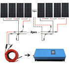 ECO Grid Tie Solar Approach Roof Kit 100W 150W Solar Panel + 1000W  Inverter Home