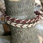 2 Fishtail Hemp Anklets or Bracelets Chevron Accent in opposing Brown & Natural