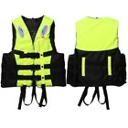 Universal Adult Kid Life Jacket Vest+Whistle Polyester Swimming Boating Ski Foam