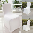 200PCs Universal White Polyester Spandex Chair Flat Covers Wedding Party