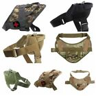Tactical Train Service Large Dog Harness Military Nylon Vest With Handle Control
