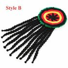 Unisex Reggae Dreadlocks Wig Braid Hat Rasta Hair Hat Knitted Beanies Jamaican