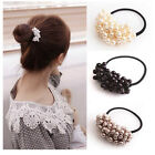 Hair Accessories Pearl Elastic Rubber Bands For Women Girl Ponytail Holder JM