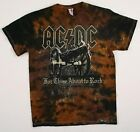 AC DC-CANNON-SALUTE-For Those About To Rock-BRN TIE DYE SHIRT  M,L,3X Super DEAL