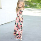 Fashion Paisley Kid Girl Long/Short Sleeve Floral Maxi Long Dress Party Sundress