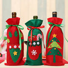 Lovely pet Wine Bottle Cover Bags Decoration Home Party Santa Claus Christmas WL