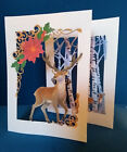 """3D CHRISTMAS STAG."" In white or charisma colour. (See postal discount!)"