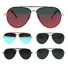 Mens Polarized Lens Rimless Luxury Pilots Metal Rim Sunglasses