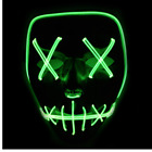 UK Light Up Mask Smiling Stitched El Wire Halloween 2018 Rave Cosplay Edm Purge <br/> Top Quality✔Safety Grade✔CE Approved✔Elastic Band✔