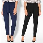 Womens Ladies High Belt Waist Pencil Trousers Work Office Smart Casual Day Pants