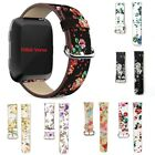 Floral Replacement Flower Bird Pattern PU Leather Strap Band for Fitbit Versa UK
