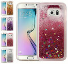 For Samsung Galaxy S6 Liquid Quicksand Glitter Bling Dual Layer TPU Cover Case
