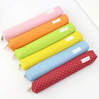 Kawaii Candy Dot Canvas Zipper Pencil Case School Supplie St