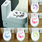 Flower Toilet Seat Wall Sticker Bathroom Decoration Decals Decor Butterfly  %cl