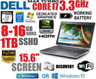 DELL CORE i7 8 PROCESSOR TURBO 33GHz LAPTOP w 8 16GB1TB SSHD156 HD 1080P