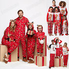 USA STOCK Family Matching Pajamas Adult Kids Women Xmas Sleepwear Outfits Set