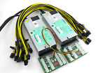 2200 Watt (2x1100) Chain Sync GPU Mining Power Supply 100-240V Open Air Rig PSU