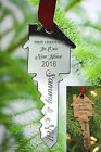 New Home Christmas Tree Bauble Personalised Gift Xmas Ornament Key Decoration