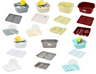 Pack of 3 Plastic Kitchen Washing Up Bowl,Dish Drainer & Large Drainer Tray Rack
