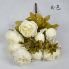 13 Branch/Bouquet Artificial flowers Peony Vivid flores Rose Bridal Wedding Deco