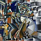 Knife Grinder by Malevich. Abstract Wall Art Repro on Canvas or Paper