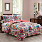 Woven Trends Coverlet 3-Piece Bedspread MultiColor Medallion Quilt Set Bedspread image