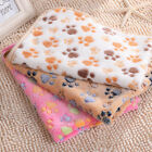 New Warm Pet S And XS Paw Print Cat Dog Puppy Fleece Soft Blanket Bed Cushion