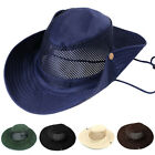 Men Boonie Bucket Mesh Cowboy Hat Cap Cotton Fishing Military Hunting Sun Outdor