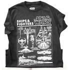 Star Wars Ship and Fighters x wing Schematics Black Mens Tee T Shirt $9.95 USD on eBay