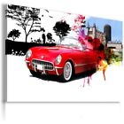 CHEVROLET CORVETTE RED TIRES Sports Cars Wall Art Canvas Picture  AU860 MATAGA