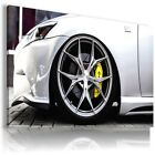 INFINITY WHITE SILVER Sports Cars Wall Art Canvas Picture AU817 MATAGA