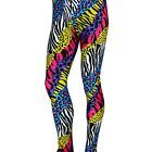80's Heavy Metal Hair Glam Rock BonJovi NEON ZEBRA Cheetah Spandex Stretch Pants