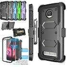 Armor Shockproof Refined Clip Holster Case Cover With Built-in Screen Protector