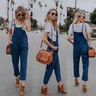 Women Slim Denim Jeans BIB Pants Overalls Straps Jumpsuit Ro