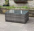 Grey Rattan Outdoor Table Garden Furniture - Coffee Table Or Ottoman Available