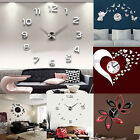 Modern 3D DIY Wall Clock Fashion Mirror Sticker Living Room Home Decor Newly