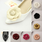 A Pair Shoe Flowers Fibre Rose Flowers Wedding Boots DIY PU Leather No Clips