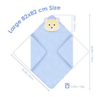 Cute Baby Bath Soft Towel Natural Cotton Infant Hooded Wrap Bathrobe Animal US