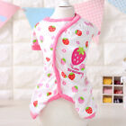 Small Cat Dog Pajamas Clothing Chihuahua Leisure Wear Pet Puppy Jumpsuit Cotton