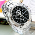 Women Men Fashion Stainless Steel Military Army Analog Sport Quartz Wrist Watch image