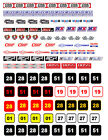 1:18 DECALS FOR DIECAST & MODEL CARS & DIORAMA Racing Numbers
