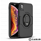 For iPhone XS MAX XR Ring Finger Loop Magnetic Car Mount Shockproof Case Cover