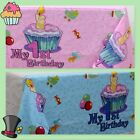"""1st Birthday Boy or Girl Plastic Tablecover 2 Pack""""FAST FREE"""
