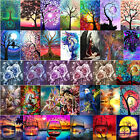 Flower Full Drill 5D Diamond Painting Craft Home Decor DIY Xmas Gift With Tools
